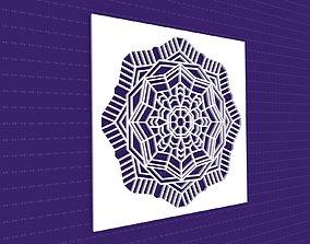 Mandala flower cnc 3D model