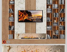 3D moden tv wall 01