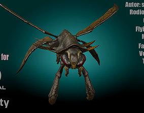 Flying Shrimp Monster V2 3D model