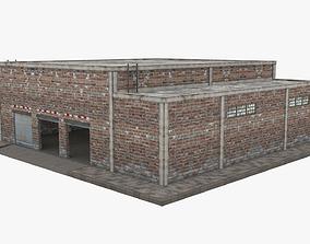Garage Building - Low Poly 3D asset
