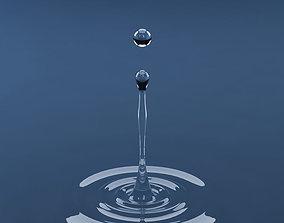 Splash water drop 15 3D