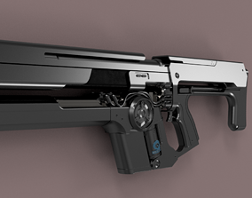 Destiny Uriels gift assault rifle 3D printable model 1