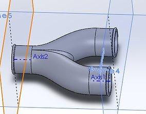 Pneumatic Y-junction 3D printable model