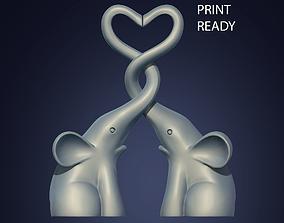 3D print model HOME DECOR ELEPHANT LOVE