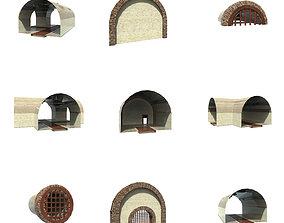 modular bunker 3D model