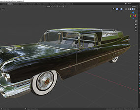 3D Cadillac Superior Porta Hearse Flowers 1959
