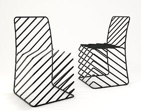 Thin Black Lines Chair 3D asset