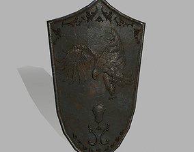 sword armour Shield 3D asset VR / AR ready