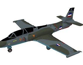 Soko G-2 Galeb Aircraft 3D model