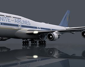 3D commercial Boeing 747