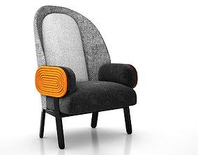 3D Collectible Design Moon Armchair