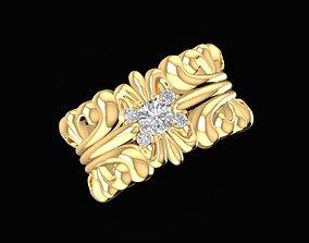 3D printable model 1791Diamond chrome hearts Ring
