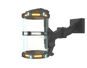 Futuristic Hibernation Laboratory Equipment Space Pod 3D