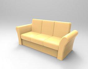 Sofa low poly 3D asset