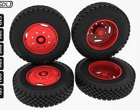 3D printable model Wheels-Tires Truck Scale 1-16