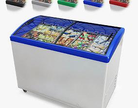 Ice Cream Display Freezer 3D model