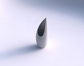 Vase Tsunami with distorted grid plates 3D printable model