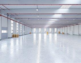 3D asset Industrial Warehouse Interior 12
