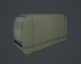 Toaster 3D model game-ready