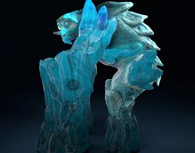 Ice Elemental 3D model rigged
