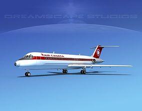 Douglas DC-9-30 Air Canada 3D model