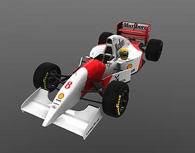 F1 McLaren 1993 MP4-8 Senna formula-1 3D model