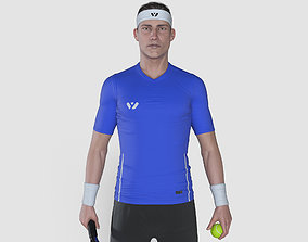 Male Tennis Player 3D