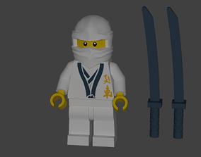 3D asset Ninjago Zane Lego character