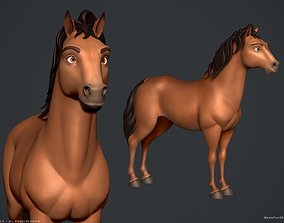 Stylized Cartoon Horse 3D asset