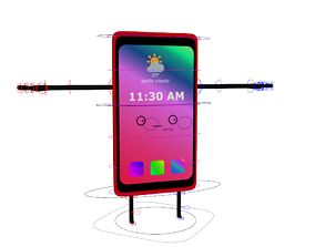 3D model Cartoon Cellphone Rig