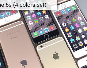 3D model Apple iPhone 6s full set 4 colors