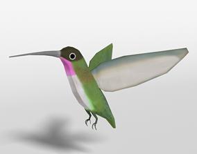 Low Poly Cartoon Hummingbird 3D model