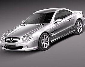 Mercedes-Benz SL 2003-2007 3D Model