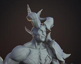 3D model Demon warrior