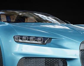 3D model 2018 Bugatti Chiron UE4 with interior