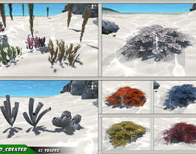 VR / AR ready Under Water Plant Collection Pack Low Poly 1
