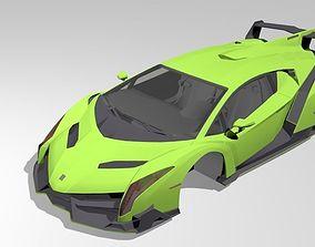 3D model realtime Lamborghini Veneno