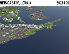 3D Newcastle Australia 50x50km