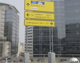 3D model German Traffic Sign 434-51 Tabellenwegweiser