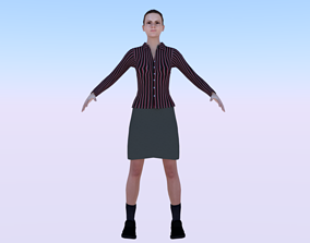3D model rigged VR / AR ready Woman