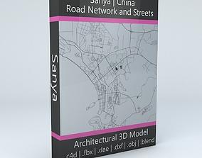 Sanya Road Network and Streets 3D model