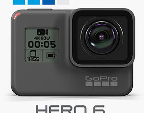 3D model GoPro Hero6 Black action camera