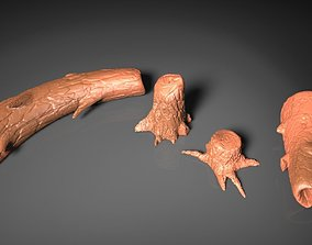 Tree logs and tree trunks 3D printable model