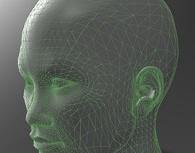 3D print model Solid female head 3