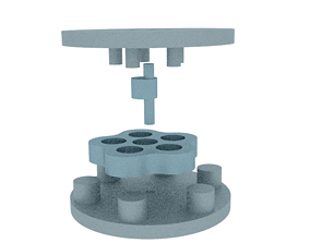 3D printable model cycloid speed reducer ratio 05 to 01