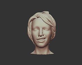 3D Printable Female Body Face 02