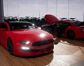 3D model realtime Generic Mid Size 4 Door Sedan