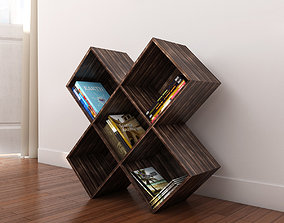 Dark Wood CD-DVD Rack 3D model