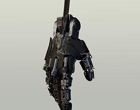 3D model hand mechanical 01