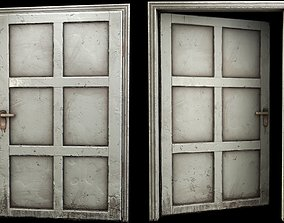 3D asset game-ready wooden Door - B type